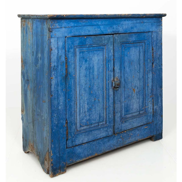 Indigo Painted Buffet For Sale - Image 11 of 13