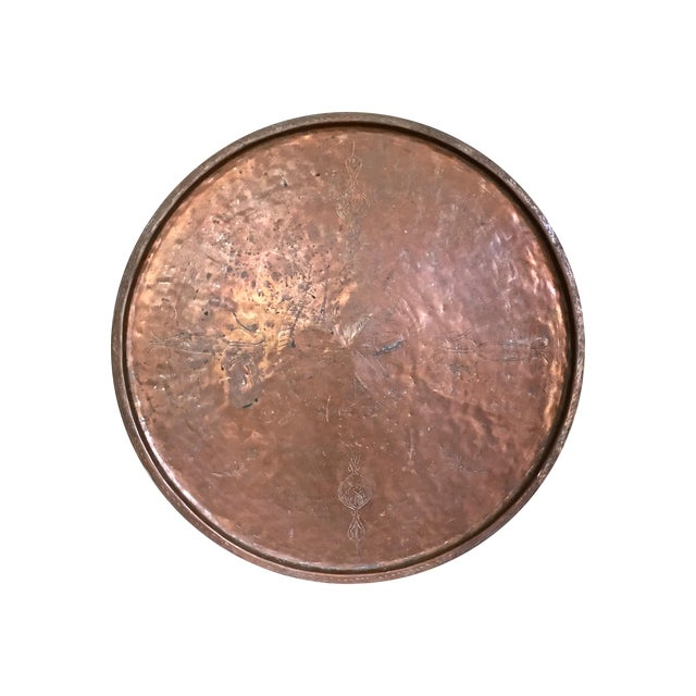 Vintage Rustic Copper Tray - Image 1 of 9