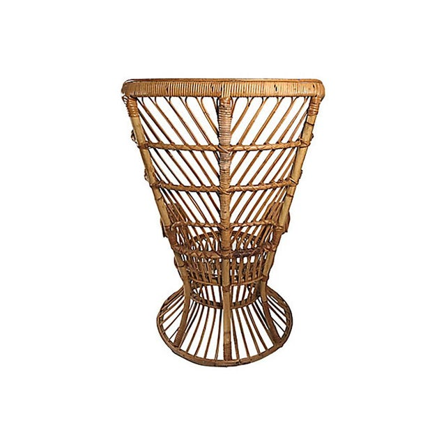 Mid 20th Century Rattan Wingback Chair by Lio Carminati For Sale - Image 5 of 12