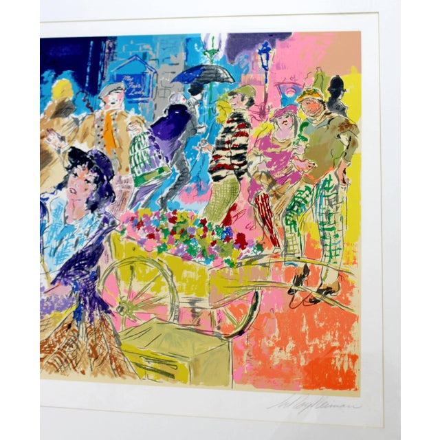 1980s Mid-Century Modern Leroy Neiman Litho Signed Numbered 1/300 My Fair Lady Framed For Sale - Image 5 of 11