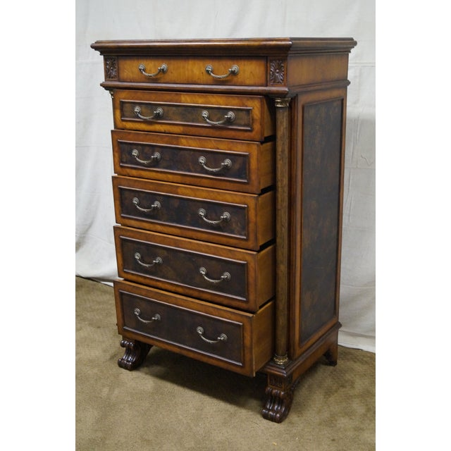 Empire Style Claw Foot Tall Chest For Sale - Image 9 of 10