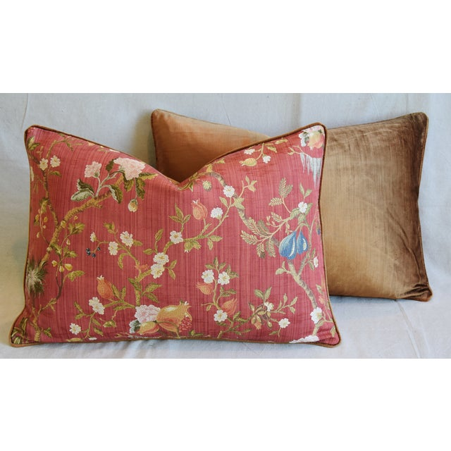 """Italian Scalamandre Melograno Silk Feather/Down Pillows 26"""" X 18"""" - Pair For Sale - Image 11 of 13"""