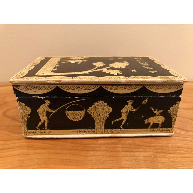 Vintage Mid-Century Hinged Guerlain Box For Sale In South Bend - Image 6 of 12