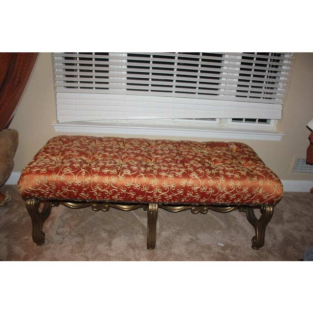Custom Marge Carson Silk Bench - Image 3 of 5