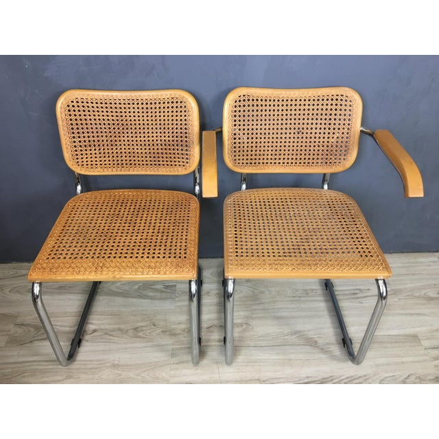 Italian Marcel Breuer Style Chairs - Set of 4 - Image 4 of 7