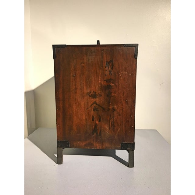 Japanese Meiji Period Ship Chest, Fune Tansu, dated 1883 For Sale - Image 5 of 11