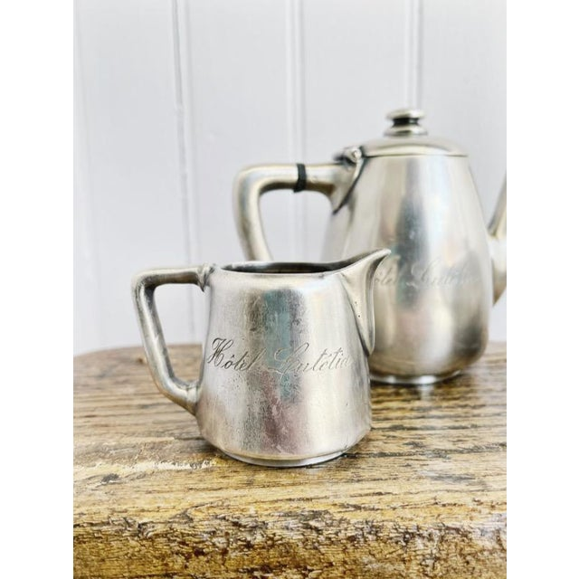 Antique Silver Plated Childs Tea Set From Hotel Lutetia Paris For Sale - Image 11 of 13