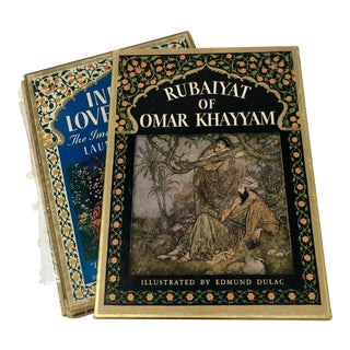 1930s First Print Illustrated Rubaiyat of Omar Khayyam & First Print India's Love Lyrics - a Pair For Sale