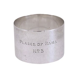 1935 Sterling Silver Masonic Napkin Ring For Sale