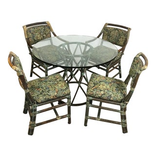 McGuire Rattan Kitchenette Dinette Set For Sale