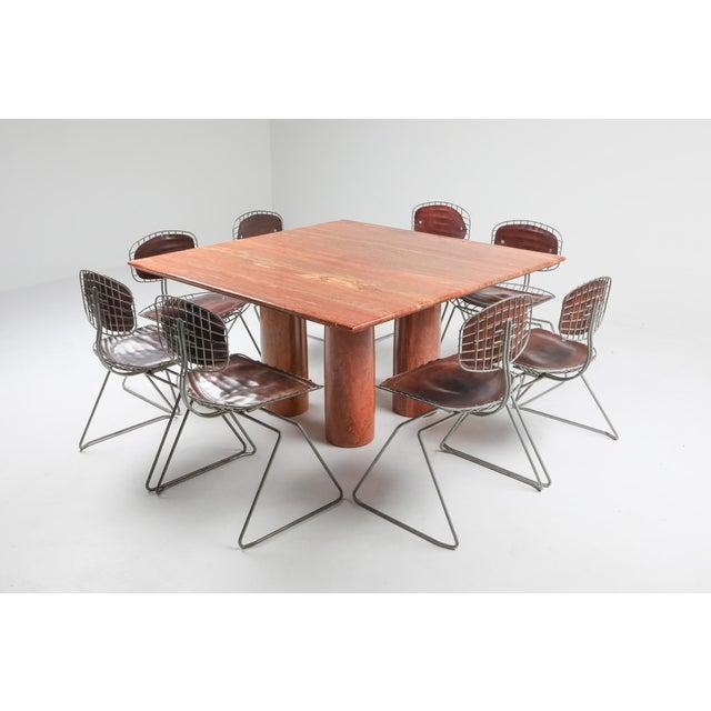 Mario Bellini's Red Travertine 'Il Collonato' Dining Table For Sale - Image 9 of 11