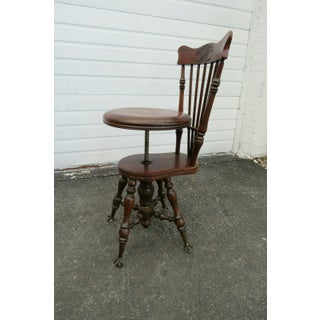 Late 1800s Claw Feet Piano Bench Stool Chair Preview