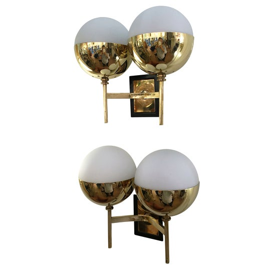 Mid-Century Modern Diminutive Mid-Century Italian Sconces - a Pair For Sale - Image 3 of 6