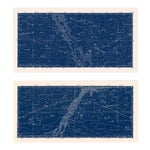 Nautical Constellation Map Prints - A Pair