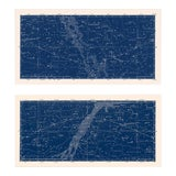 Image of Nautical Constellation Map Prints - A Pair For Sale