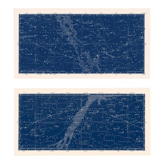 Nautical Constellation Map Prints - A Pair For Sale