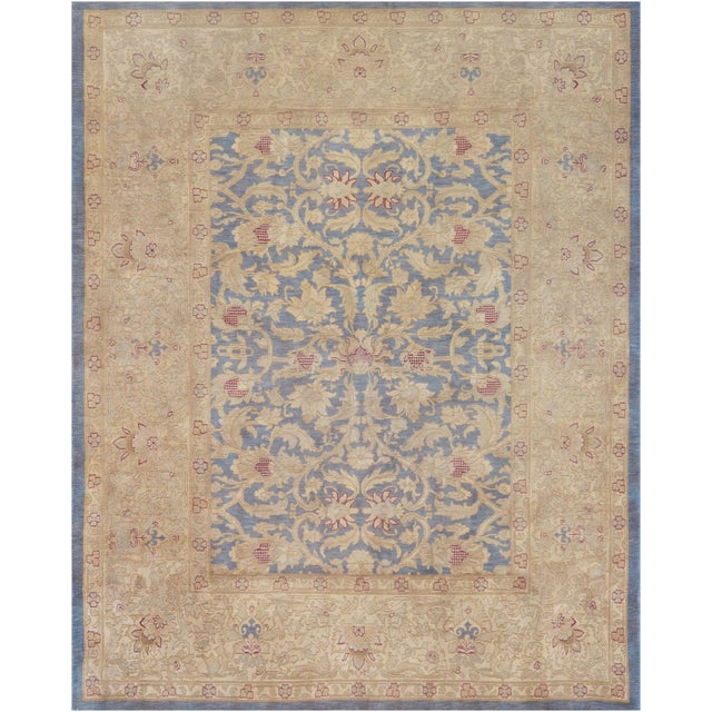 """Islamic Mansour Superb Quality Handwoven Agra Rug - 7'10"""" X 9'7"""" For Sale - Image 3 of 3"""