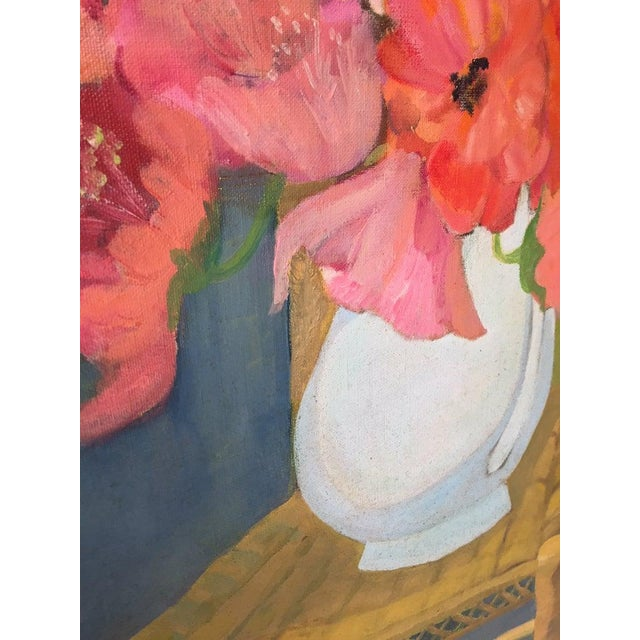 1980s Original Oil on Canvas Still Life Painting For Sale - Image 9 of 12