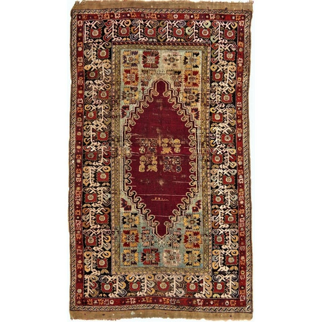 1900 Antique Turkish Sivas Rug For Sale - Image 4 of 4