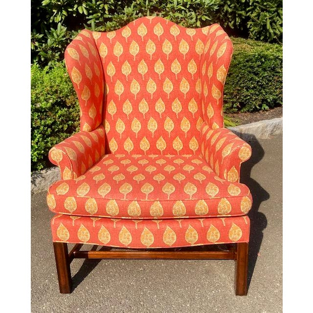1980s Vintage Kittinger Colonial Williamsburg Wingback Chair For Sale - Image 10 of 10