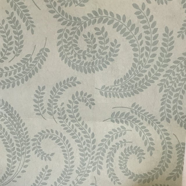 Green Leaf Motif Stroheim Wallpaper For Sale In Chicago - Image 6 of 7