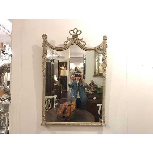 Glass 19th Century French Carved Swag and Tassel Mirror For Sale - Image 7 of 7