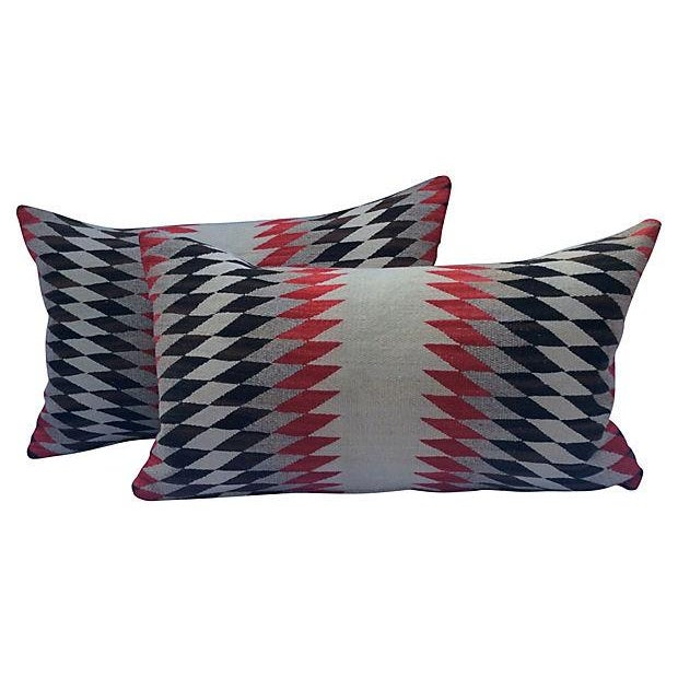 Native American Weaving Pillows- A Pair - Image 1 of 4