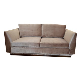 1980s Vintage Modern Velvet Loveseat For Sale