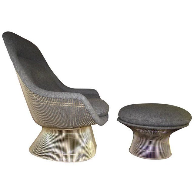 Knoll Warren Platner Throne Chair & Ottoman Lounge - Image 1 of 10