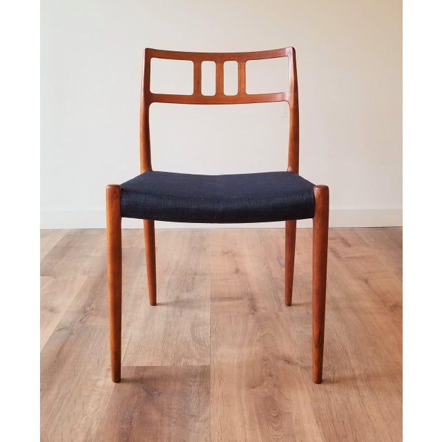 Mid-Century Modern 1960s Newly Upholstered Niels Moller Model 79 Side Chairs - Set of 4 For Sale - Image 3 of 13