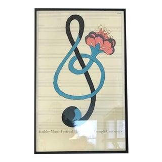 Milton Glaser 1967 Ambler Music Festival Lithograph For Sale