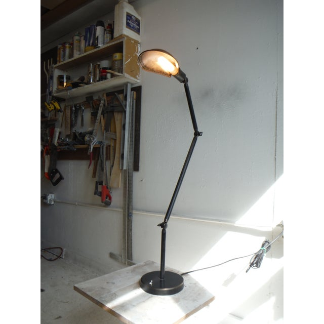 Industrial Style Articulated Floor Lamp #1 For Sale - Image 4 of 5