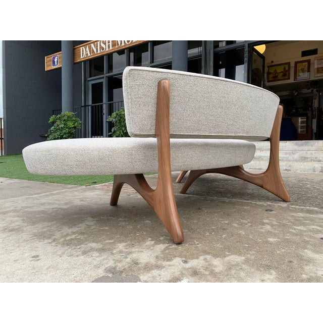 """Custom Sculptural """"Kagan"""" Style Sofa For Sale - Image 4 of 5"""