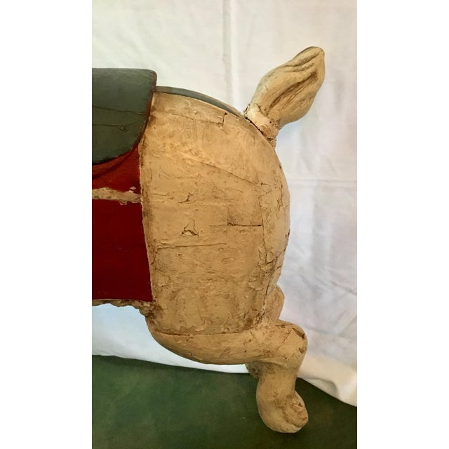 19th Century Rare French Carved Juvenile Carousel Rabbit For Sale - Image 10 of 13
