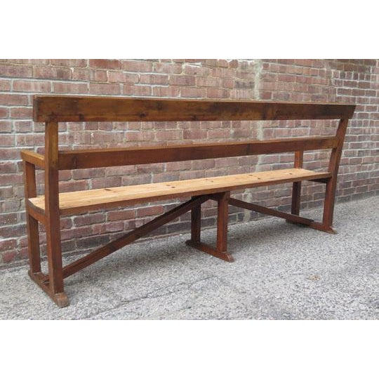 English Pine Long Bench For Sale - Image 4 of 6