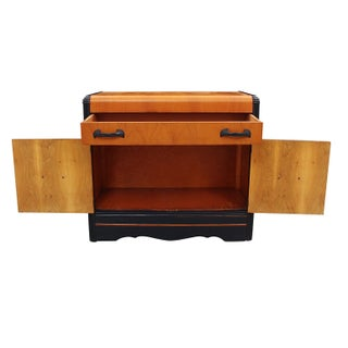 1940's Vintage Navy Accented Credenza Preview