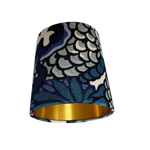 Blue Floral Chinoiserie Sconce or Chandelier Shade Shade For Sale