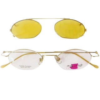 "Original Andy Warhol ""Water Colors"" Eyeglasses with Sunclip"