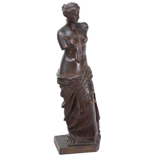 Late 19th Century French Bronze Signed Collas, Musee Du Louvre For Sale - Image 11 of 11