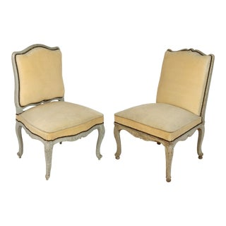 19th Century French Painted Side Chairs- a Pair For Sale