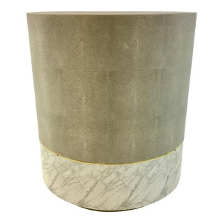 Made Goods Modern Gray Shagreen Emerson Side Table For Sale