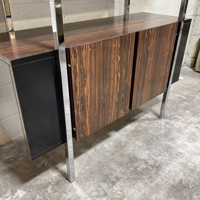 1970s Mid Century Two Tier Chrome Shelf Cabinet For Sale - Image 5 of 12