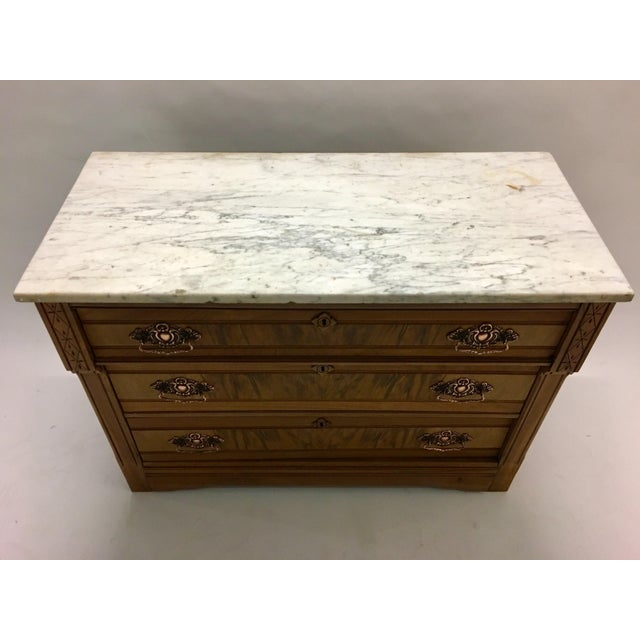 Wood 19th C. Mahogany & Marble Chest For Sale - Image 7 of 11