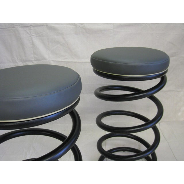 Industrial Industrial Spring Stools - A Pair For Sale - Image 3 of 6