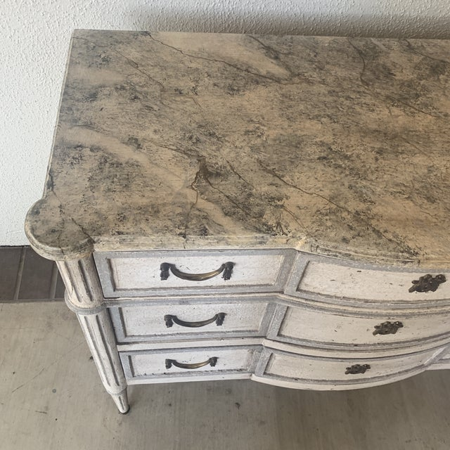 French 20th Century French Painted Commode For Sale - Image 3 of 13
