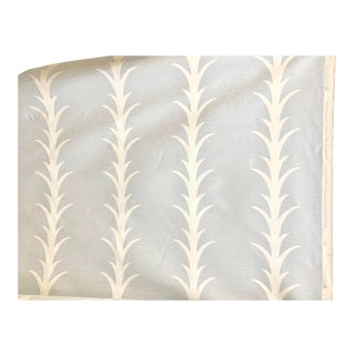 18 Yards Schumacher Acanthus Stripe Sky Fabric For Sale