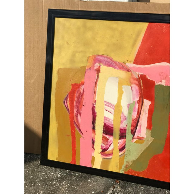 Mid-Century Modern Mid Century Modern Red Painting For Sale - Image 3 of 5