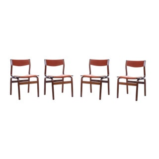 Vintage Mid-Century Modern Bentwood Dining Chairs - Set of 4