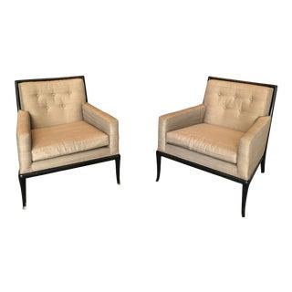T. H. Robsjohn- Gibbings 1950s Birch Club Chairs- a Pair For Sale