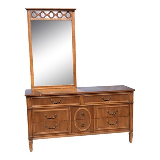 1970s Mid Century Modern 8-Drawer Dresser For Sale